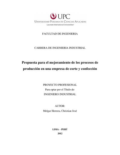 c7b56939e371b Propuesta para el mejoramiento de los procesos de producción en ...