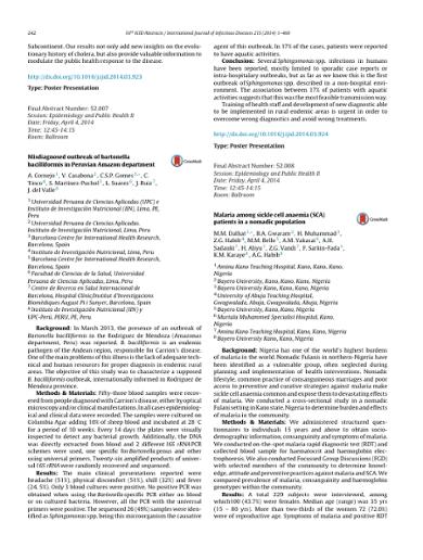 Misdiagnosed outbreak of bartonella bacilliformis in