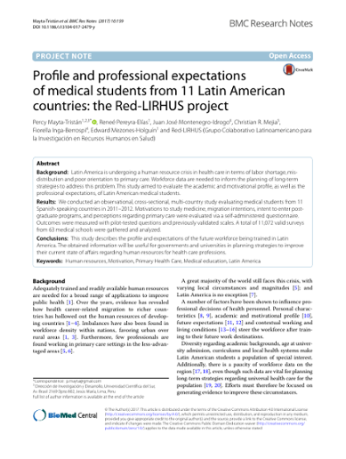 Profile and professional expectations of medical students