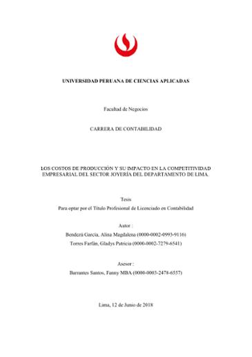 UNIVERSIDAD PERUANA DE CIENCIAS APLICADAS Facultad De
