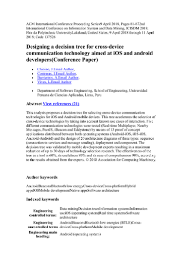 Designing a decision tree for cross-device communication